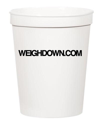 Weigh Down Plastic Cup