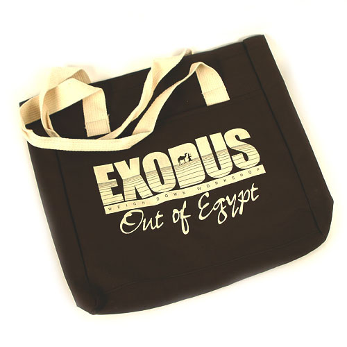 Exodus Tote Bag- chocolate brown (canvas)