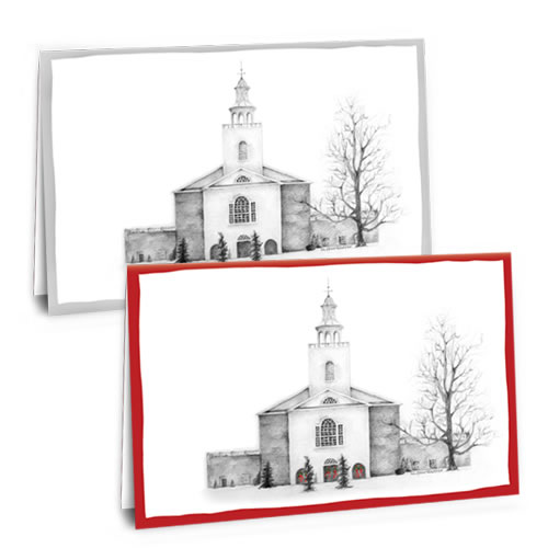 The City Gate Greeting Cards: Church