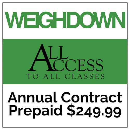 Weigh Down All Access, Annual Contract, Prepaid $249.99