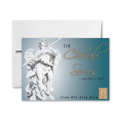 The City Gate Greeting Cards: Cherub